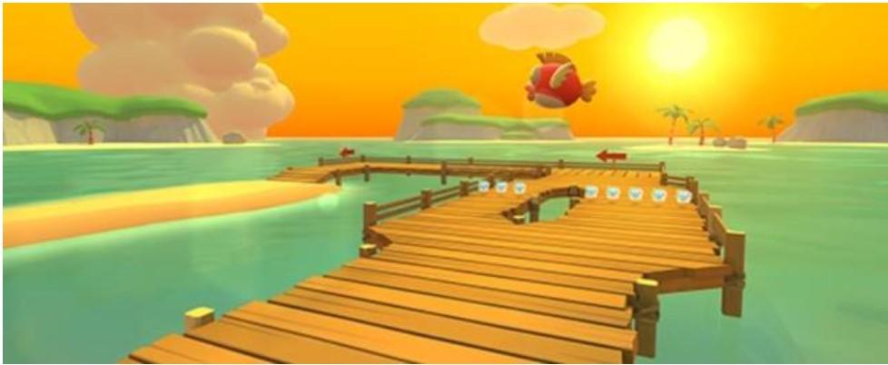GBA Cheep-Cheep Island в Mario Kart Tour