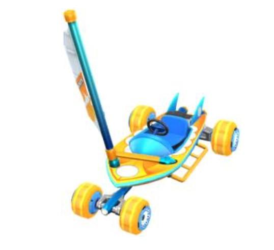 Солнечный серфинг-парусник в Mario Kart Tour
